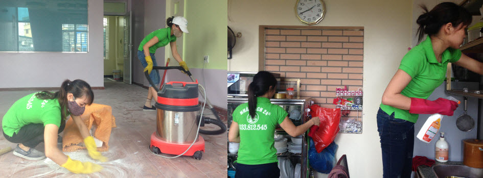 Dịch vụ dọn nhà theo giờ tại Hà Nội giá rẻ