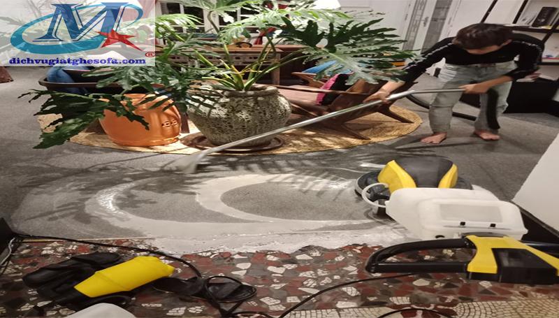 dịch vụ giặt thảm ở quận hà đông
