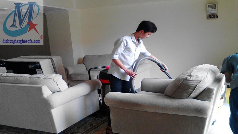 Dịch vụ giặt ghế sofa nỉ tại Hà Nội